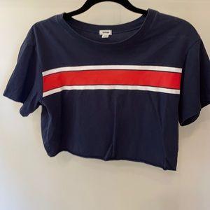 Garage short sleeve striped Navy blue T-shirt